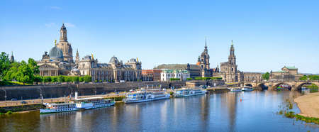 panoramic view at the city center of dresden