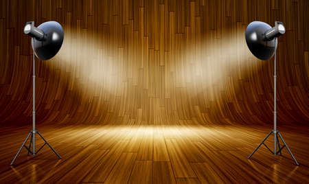3D rendering of an wooden backdrop