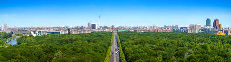 panoramic view at the skyline of berlin
