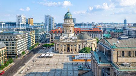 panoramic view at the gendarmenmarkt, berlin Stockfoto