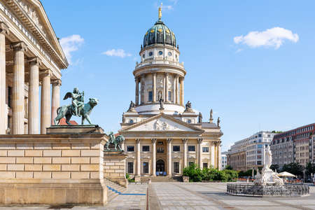 the famous gendarmenmarkt with the french cathedral, germany