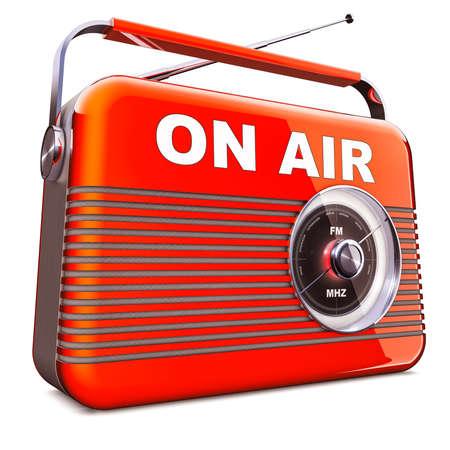 3D illustration of an vintage radio