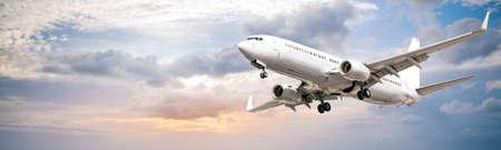 modern airliner against a blue sky