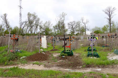 orthodoxy: tombs and crosses in the cemetery