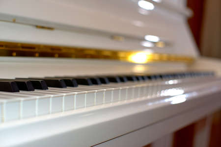 Close up of   piano. Concept of music and entertainment Stock Photo