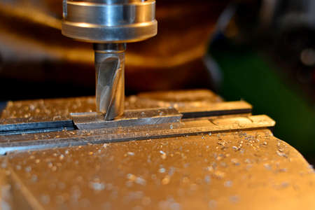 lathe and milling machine with water cooling Stock Photo