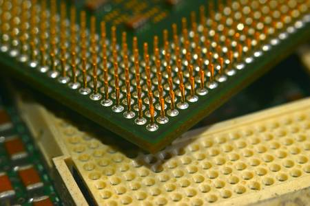 Microprocessor transistor CPU macro center