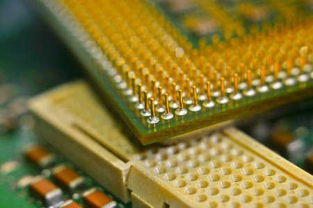 Microprocessor transistor CPU macro center