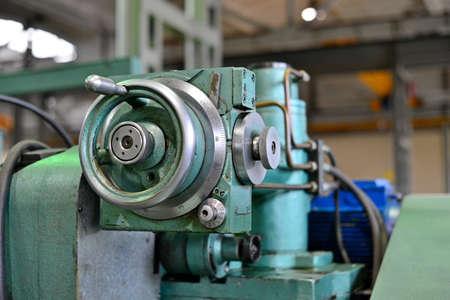 Scale of Nonius on the machine Stockfoto