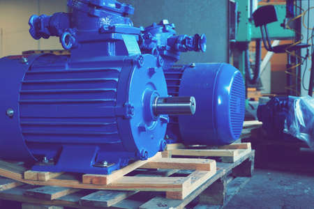 New high-power electric motors are in stock and ready for use.