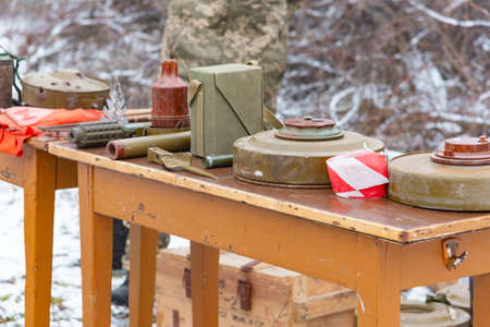 Anti-tank and anti-personnel mine for the destruction of infantry and armor.
