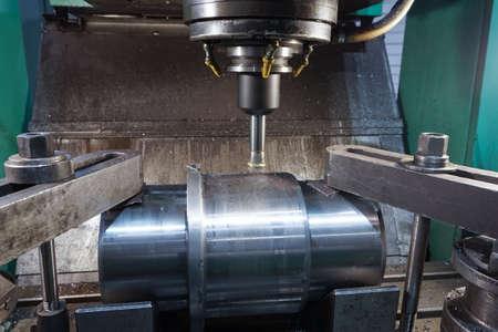 Milling keyway shaft on the CNC machine.