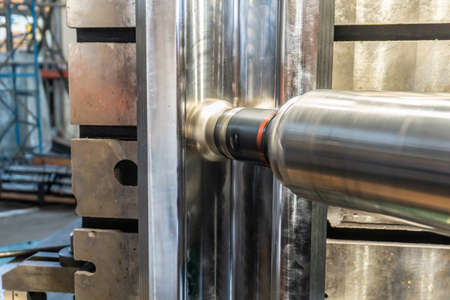 Long reach spindle with quick cutter on a cnc machine.