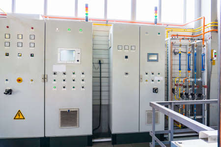 Electric control cabinet in the gas industry Stok Fotoğraf