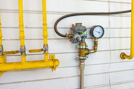 Pressure sensors, pressure gauges in the gas industry.