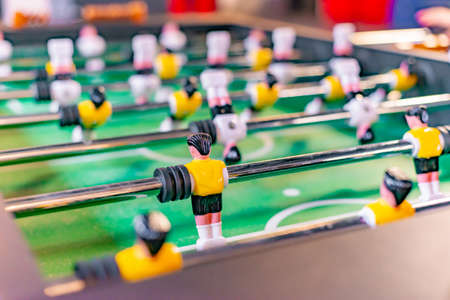 Foosball close-up in the game room. Reklamní fotografie