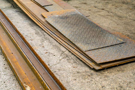 Metal in stock, pipes, sheet metal, channel and beams.
