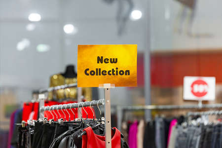 A new collection of men's and women's clothing. Stock fotó