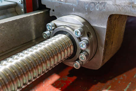 Ball screw for transferring the caliper into motion and feeding