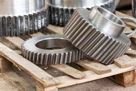 Gear ring with internal teeth, gear cutting production on CNC machines.