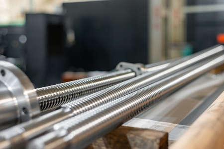 Ball screw screws for the repair of metalworking equipment in the repair industry Reklamní fotografie