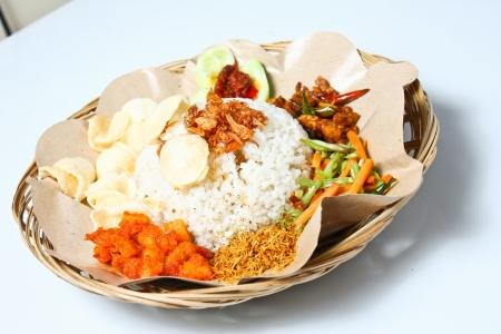 nasi: medan mixed rice  nasi campur medan