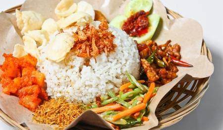 nasi: nasi campur medan  medan mixed rice