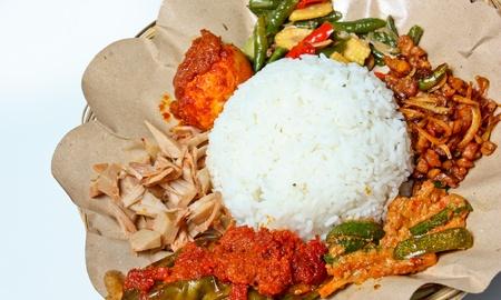 nasi: nasi campur medan  mixed rice from medan