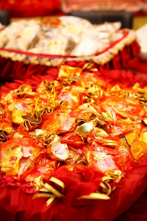 sweet candy reserved in engagement  chinese tradition called baki seserahan   photo
