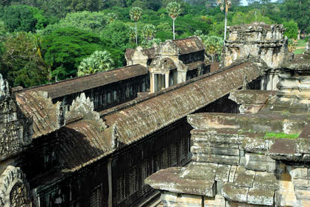 The roof in the Angkor Wat temple complex
