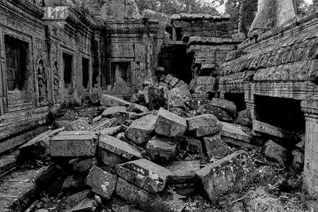 ruins of an ancient temple in Angkor Cambodia