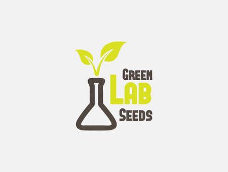 Green Lab Seeds Illustration