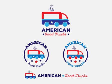 stated: American Food Trucks Illustration