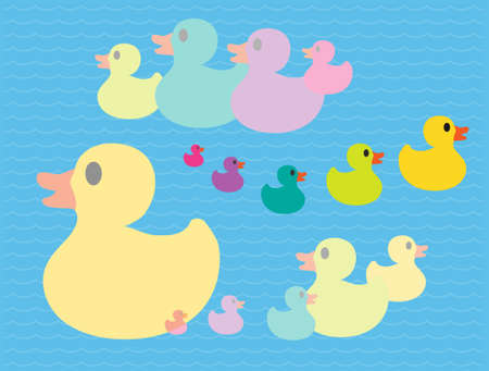 ugly duckling: Five Little Ducks Illustration