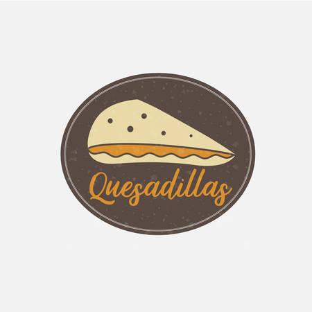 Delicious Cheese Filling Tortilla Logo Illustration