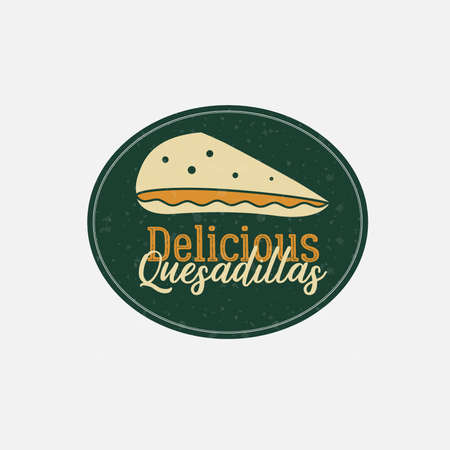 Delicious Cheese Filling Tortilla Logo Illustration