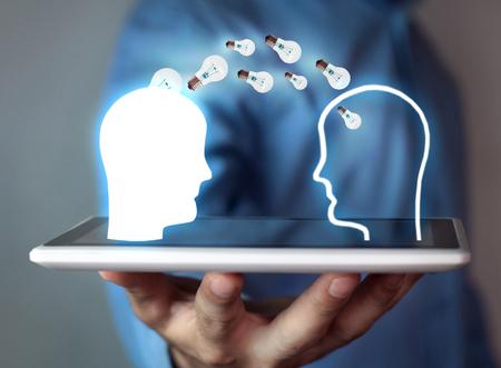Idea concept. Knowledge transfer Banque d'images