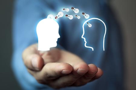 Idea concept. Knowledge transfer 版權商用圖片
