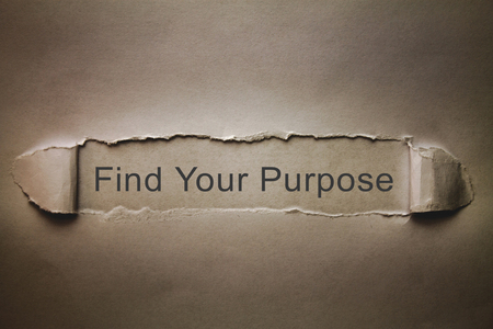 Find Your Purpose on torn paper.