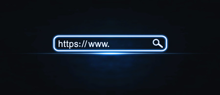 Https address. Internet search concept