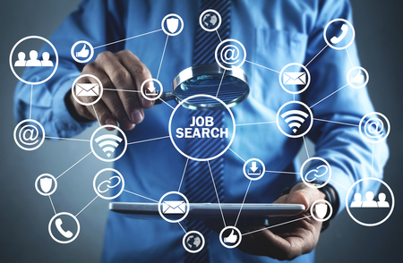 Job search. Business technology concept