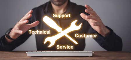 Businessman in office. Technical Support Customer Service Zdjęcie Seryjne