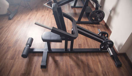 Training equipment in the gym room. Health, Energy