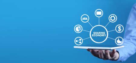 Sharing economy. Business, Internet, Technology