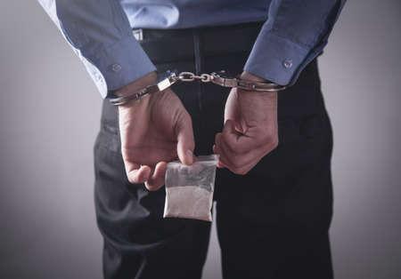 Arrest of a drug dealer. Law and police