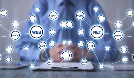 Web. Net. Internet. Technology. Business