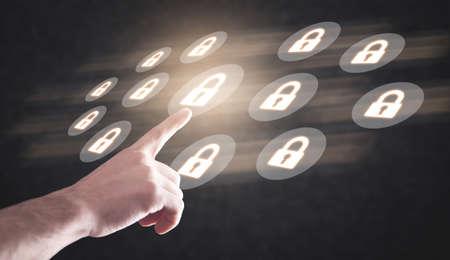 Technology security concept. Business concept