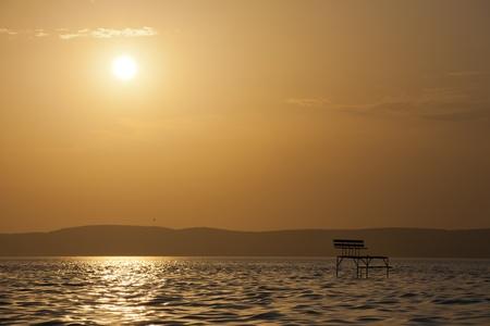A photo of Lake sunset - The Lake Balaton, Hungary Stock Photo - 17617792
