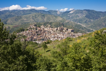 Castiglione village near to Etna volcan in Sicily, Italy Stock Photo