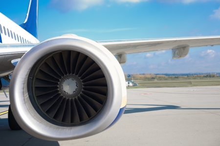 Close up of turbojets aeroengine Stock Photo